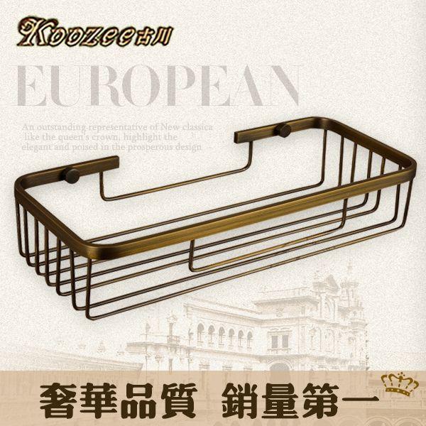 Купить товарГу Chuanou стиль ванной угловая корзина ванная комната металла кулон висит корзина , полная медь прямоугольная бронзовая стеллаж для хранения она в категории Полки для ваннойна AliExpress.