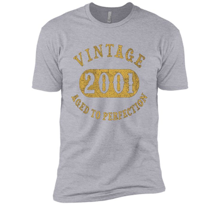 16 years old 16th Birthday B-day Gift Vintage 2001 T-Shirt