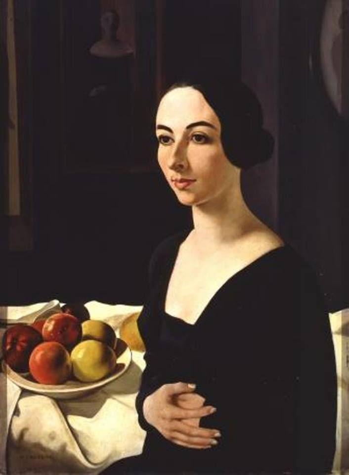Felice Casorati - Portrait of Hena Rigotti, 1924 #arte