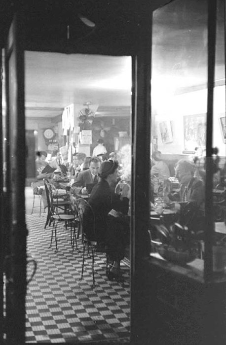 Greenwich Village, 1945. Cafe life