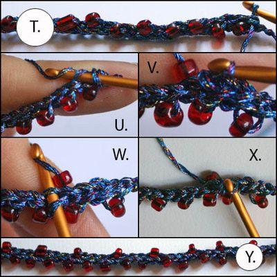 Double Row Beaded Crochet Necklace Tutorial