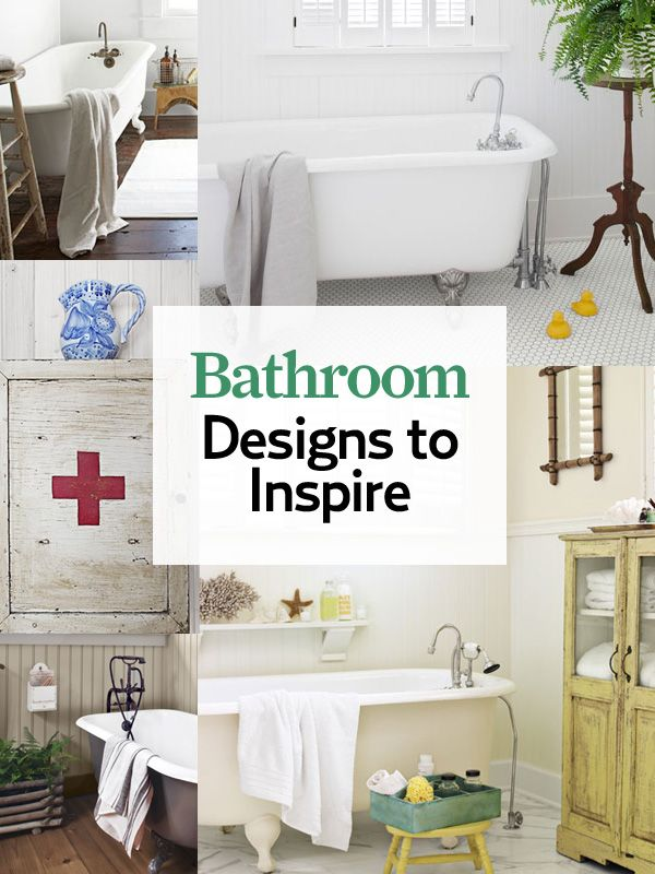 Our favorite #bathroom ideas will make your home's smallest room feel larger than life: http://www.countryliving.com/homes/decor-ideas/bathroom-decorating-design-ideas