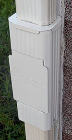 This Slim Line Downspout Filter Has A Lift Out Basket
