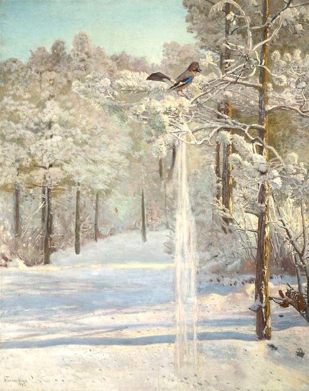 """Józef Chełmoński, """"Sójka-zima"""" 1892."""