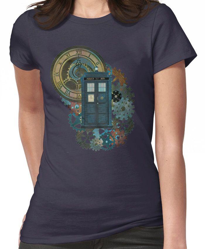 TARDIS Art Doctor Who  Women's T-Shirt