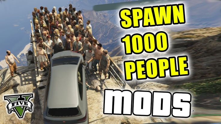 GTA 5 Mods - PUSHING 1000 PEOPLE OFF MT. CHILIAD - (GTA V PC - Fun With ...