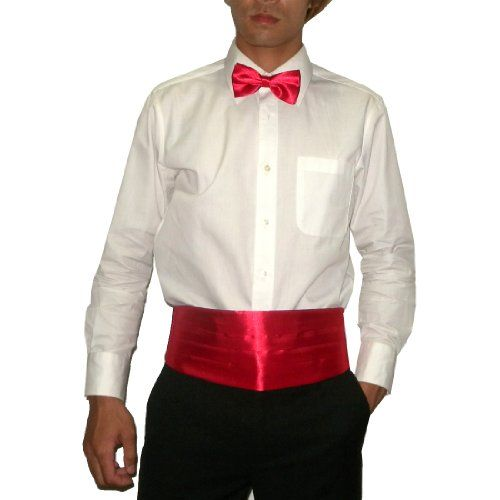2 PCS Set: Silk Mens Pleated Adjustable Cummerbund & Bow Tie Tuxedo Set - Red Set http://www.amazon.co.uk/dp/B00EEUM6A4/ref=cm_sw_r_pi_dp_sfl0wb09392CC