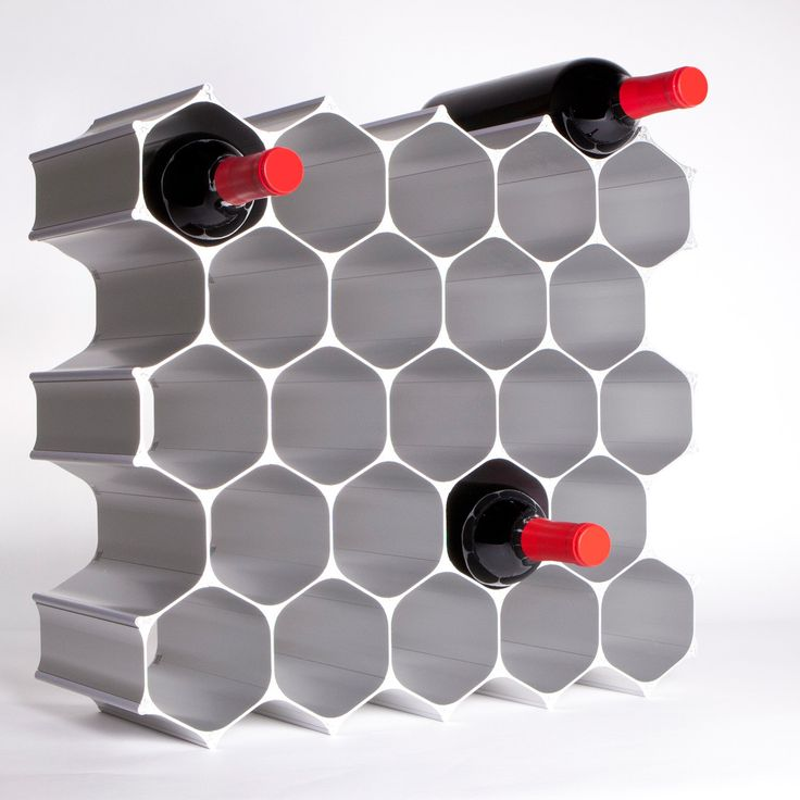 Modular Hive Wine Rack
