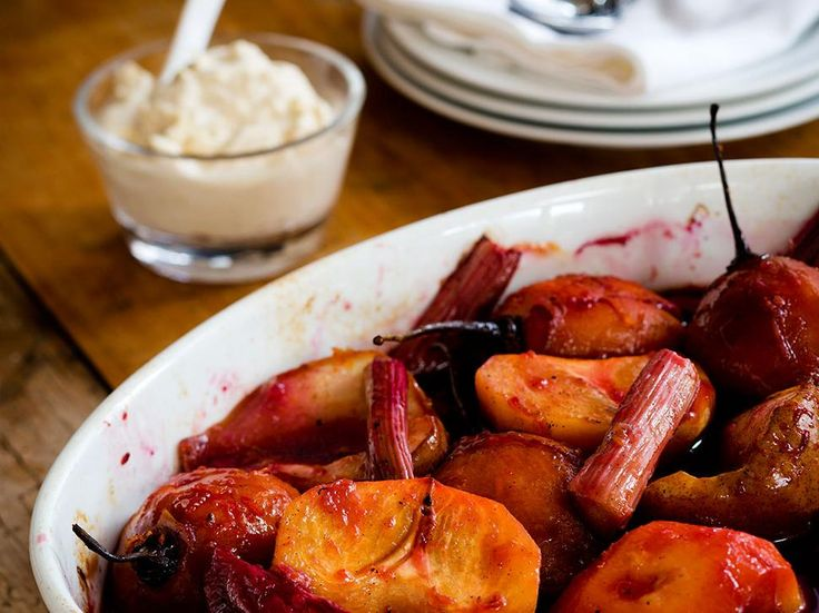 Recipe: Roast Winter Fruit with Port and Spiced Mascarpone -