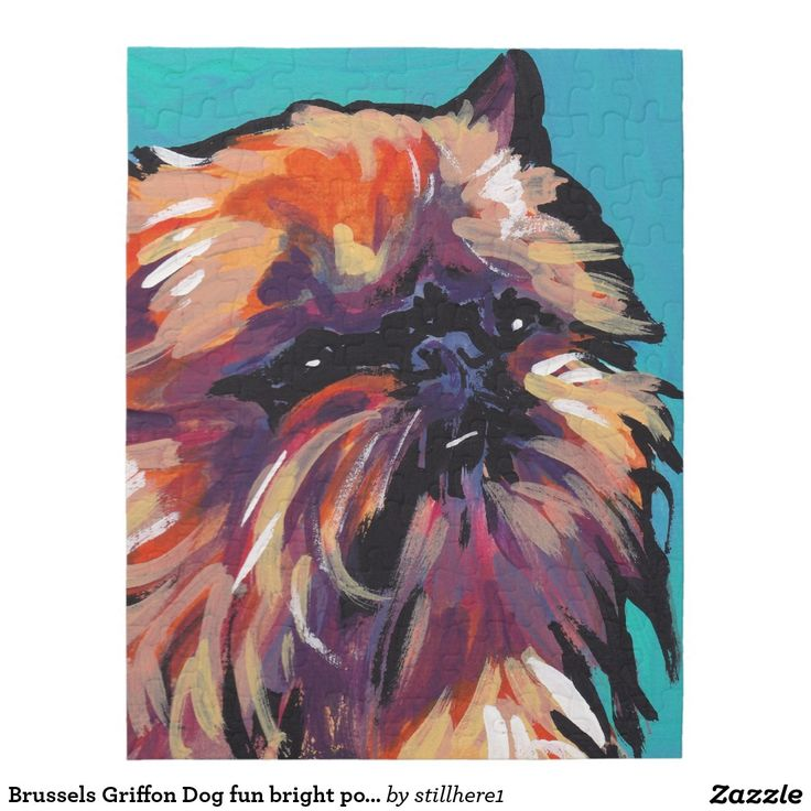 Brussels Griffon Dog fun bright pop art Puzzle
