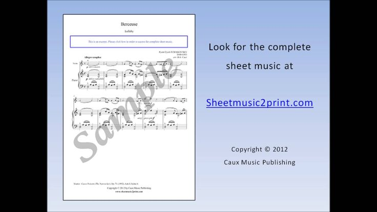 The Nutcracker : Lullaby - Violin Sheet Music www.sheetmusic2print.com/Tchaikovsky/Violin/Nutcracker-Lullaby.aspx