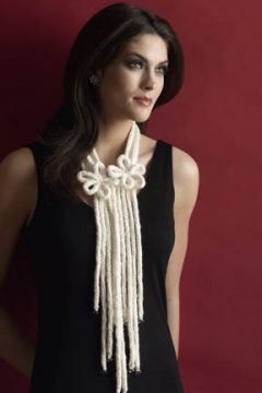 Free knitting pattern from Tahki Stacy Charles.  Interesting use of I-Cord for this lovely accessory.