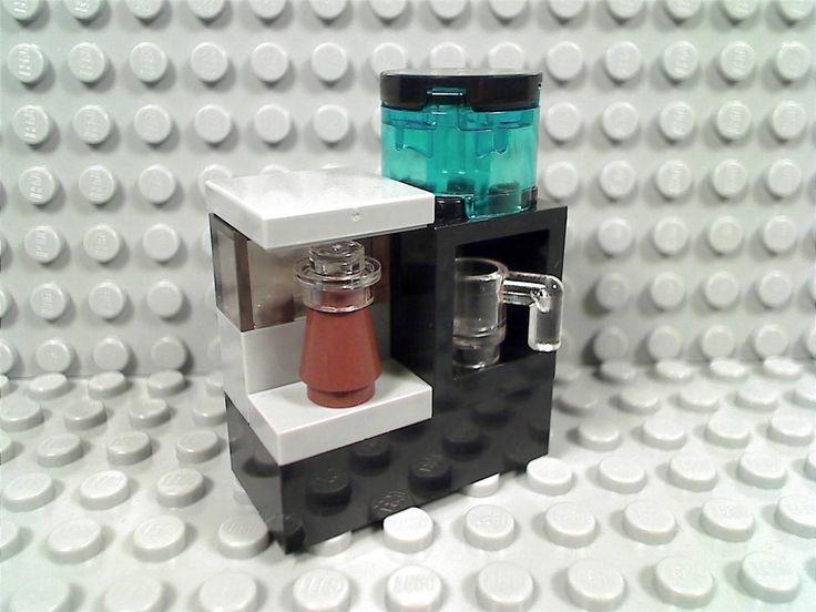 LEGO COFFEE MAKER & WATER COOLER Dispenser Office House Shop City Carafe Cafe
