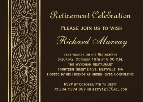 15 best Military Retirement Invitation Template images on Pinterest - best of free invitation templates for retirement party