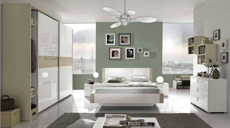 Camera da letto matrimoniale completa colore bianco e corda laccato lucido idelshop.com #bedroom