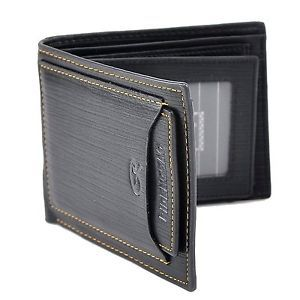 Men Wallet Pockets Money Purse ID Credit Card Clutch Bifold Black PU #Wallet #Black #Mens Wallet