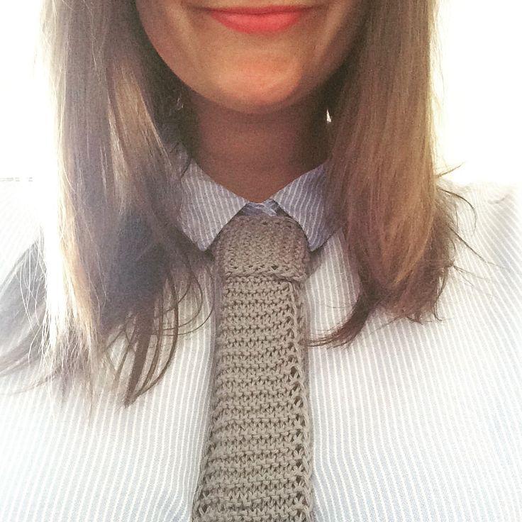 Strikket slips