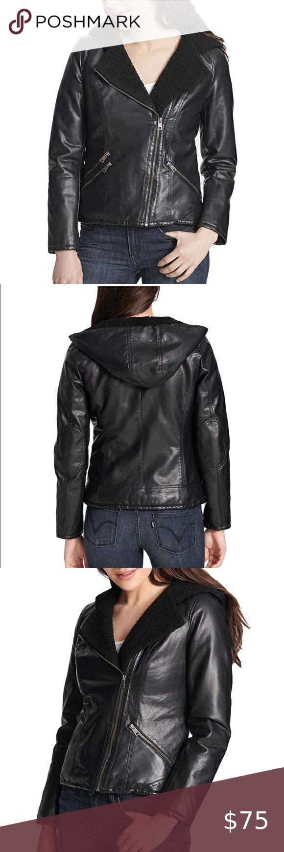 Levi's Asymmetrical Sherpa lined Moto Jacket Small 100