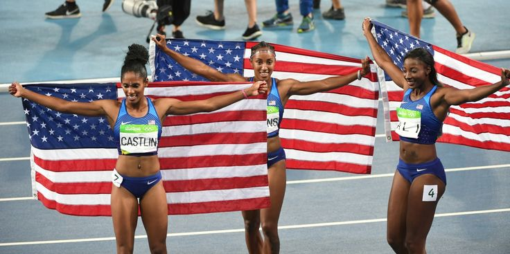 Americans Brianna Rollins, Nia Ali, Kristi Castlin sweep medals in 100 hurdles - The Washington Post