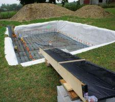 tout est fin pret pour la livraison des 7m cubes de beton auto nivelant