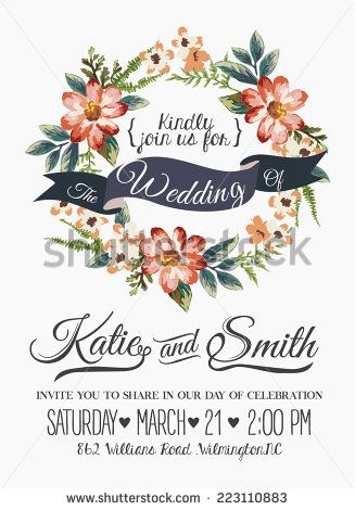 187 best wesele images on pinterest weddings wedding stationery watercolor flowers wedding invitations vector material png and vector stopboris Images
