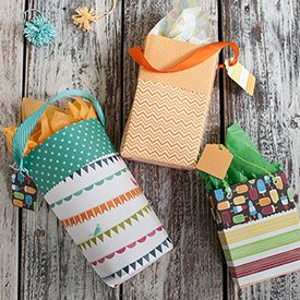 Make these adorable gift bags from scrapbook paper or any kind of paper. Easy to make with this step-by-step tutorial