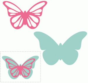 Silhouette Design Store - View Design #62457: pretty butterfly layered embellishment