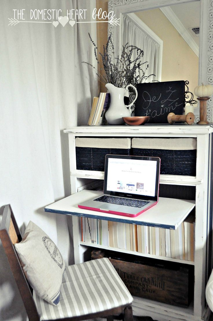 How to transform an old, used dresser into a bookshelf/desk showpiece!