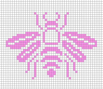 bee / abeille / cross stitch