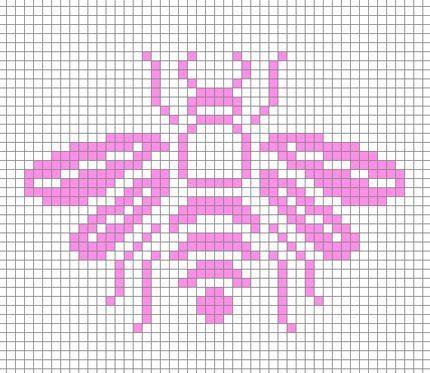bee / abeille / cross stitch