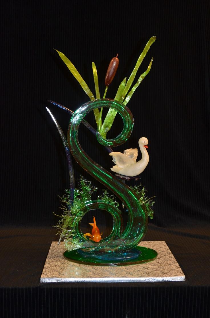 My sugar showpiece Sugar art, Fun thanksgiving desserts, Chocolate sculptures