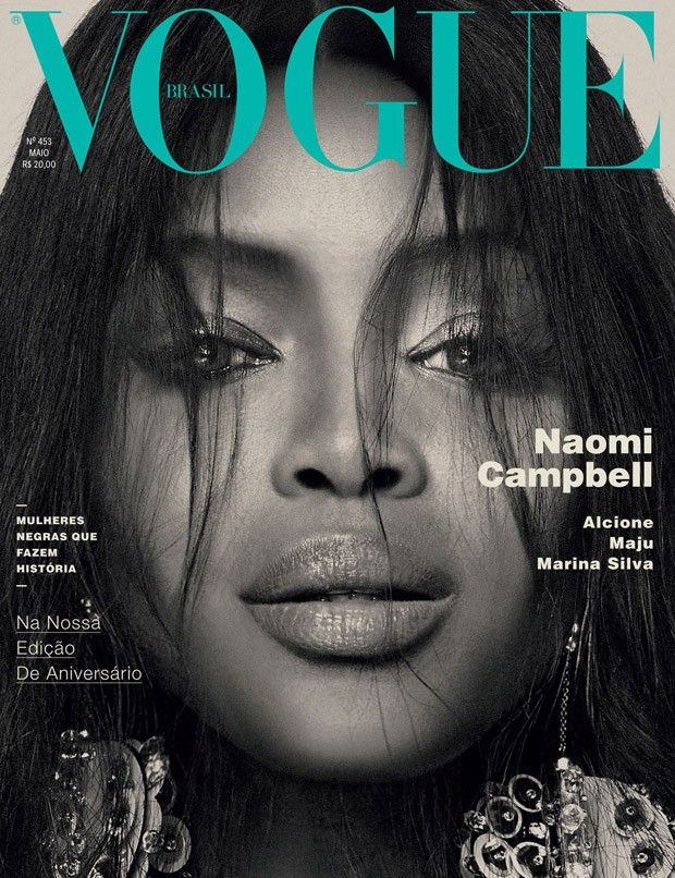 Naomi Campbell Covers Vogue Brazil May 2016