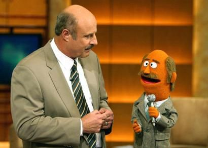 "OMG this sesame street skit w/ phil mcgraw & this muppet named ""dr feel""!!! This was so funny w/ my mom & i reenacting that part where they both argue over whose tv show it is (""my show dr feel!"" ""my show dr phil!"") 😂"
