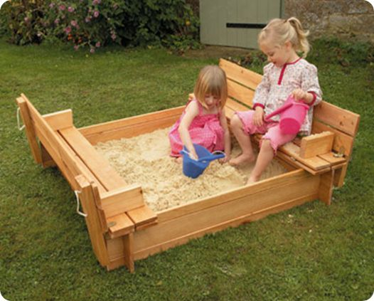 Wooden Sand Pit With Seats The Seats Fold Down To Make