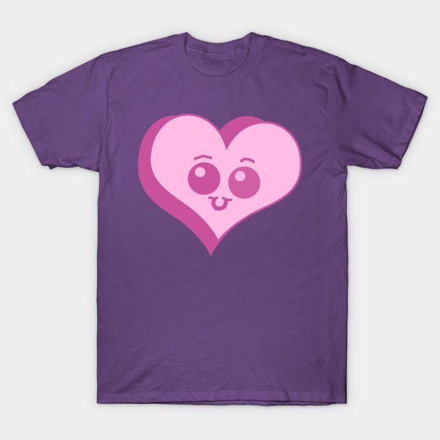 Cute Pink Heart shirt  #Teepublic #shirts #tshirts #valentinesday #hearts #chibi #kawaii #cute #cuteheart #pink