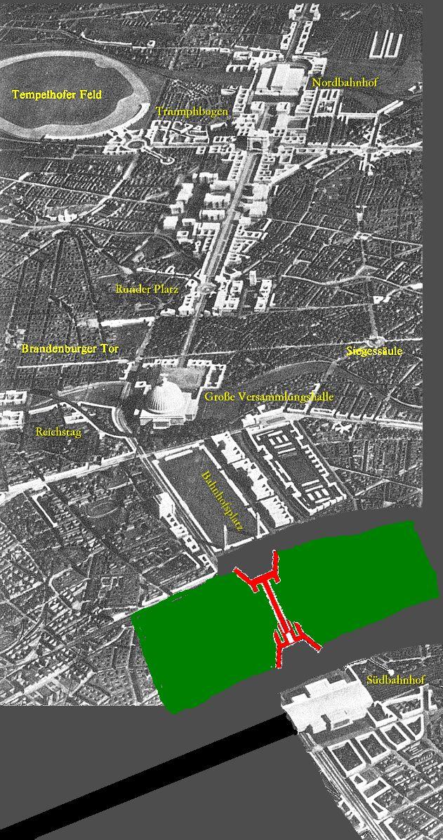 Germania Plan Nord Sud Verdreht Mit Bildern Planer