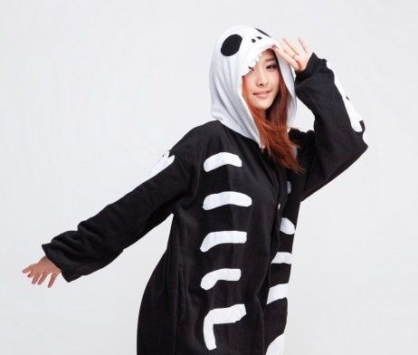 Skeleton Adult Kigurumi Onesie - Available Now For $65. | Contacts Cow