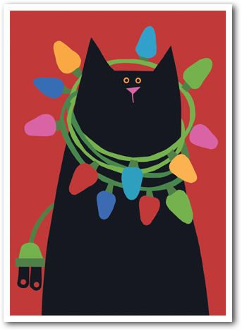 Linnea Riley  BLACK CAT WITH LIGHTS