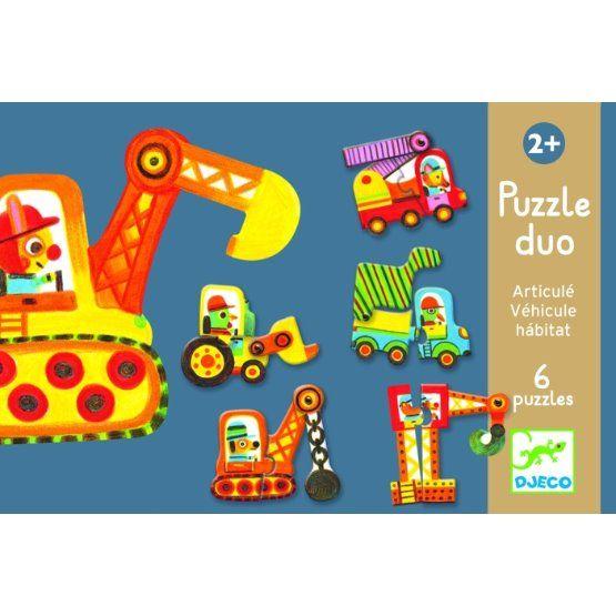 Puzzle Duo - Pohyblivá auta