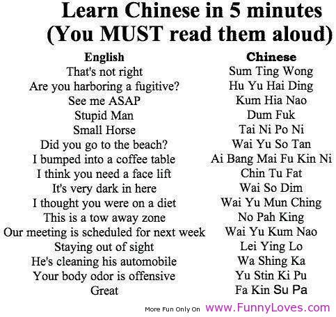 Learn Chinese In 5 Minutes ........OMG.....
