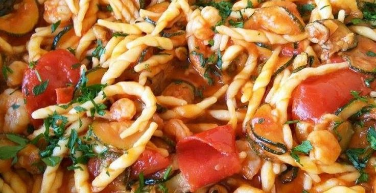 Trofie con gamberetti, zucchine e pomodorini-Dolci Passioni | Dolci Passioni