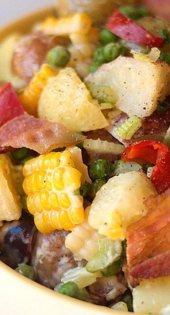 The Best Potato Salad for Easter or springtime entertaining