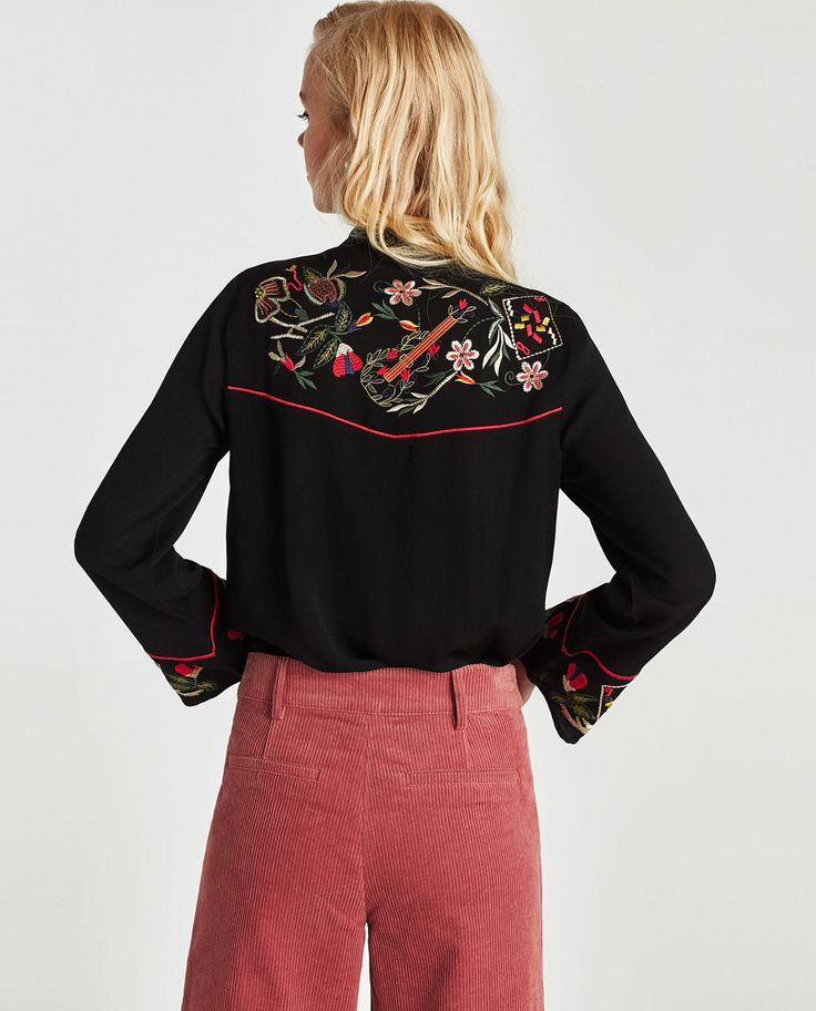 EMBROIDERED SHIRT-NEW IN-TRF | ZARA United States