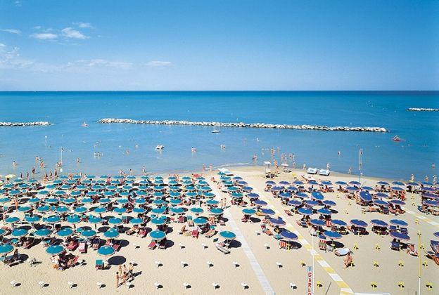 The beach at Bellaria Igea Marina