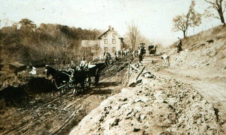 Early road work in Raven Rock, NJ