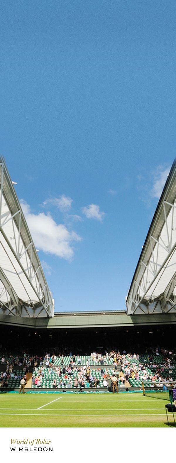 Wimbledon Centre Court retractable roof. #RolexOfficial
