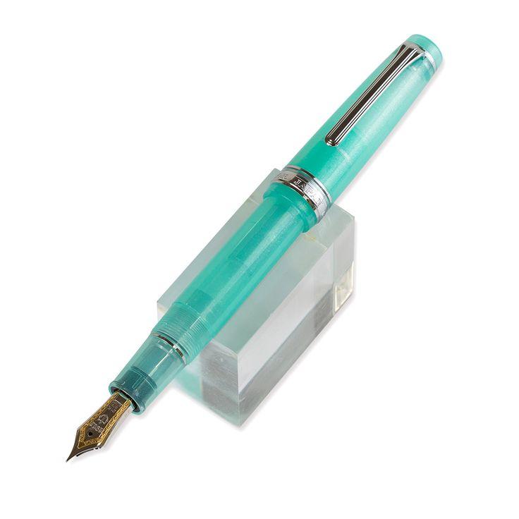 人気の渡良瀬ミントをイメージしたラメ入り透明ペン軸が美しい、こだわりの万年筆オリジナルインク付。セーラー万年筆×ジョイフル2 限定オリジナル万年筆 WATARASE 渡良瀬(F/細)
