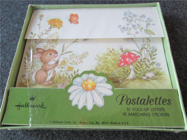 Vintage Hallmark Cards Postalettes with the sticker closures.