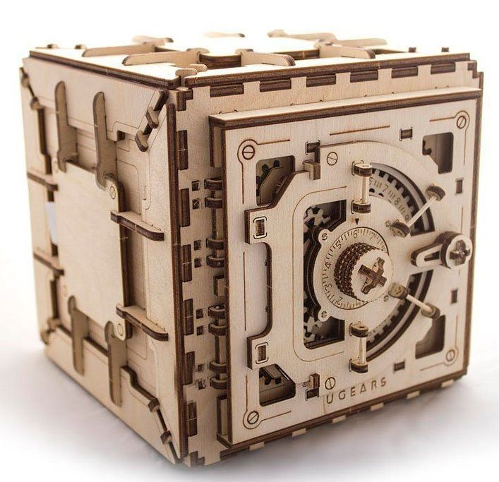 Ugears 3D mechanické puzzle Trezor