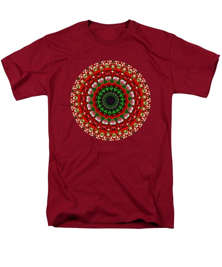 Photography T-Shirt featuring the photograph Mandala Tulipa By Kaye Menner by Kaye Menner